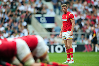 Rhys Priestland of Wales looks on. Old Mutual Wealth Cup International match between England and Wales on May 29, 2016 at Twickenham Stadium in London, England. Photo by: Patrick Khachfe / Onside Images