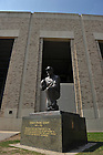 Statue of Coach Frank Leahy outside Notre Dame Stadium...Photo by Matt Cashore/University of Notre Dame