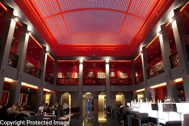 Cafe and Bar of Bourgtheroulde Hotel in Rouen, Normandy, France