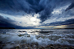 Storm clouds over Lake Mendota in Madison, Wisconsin.