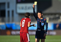 Frisco, TX. - February 13, 2016: The U.S. Women's National team and Mexico are even 0-0 in second half action during CONCACAF Women's Olympic Qualifying at Toyota Stadium.
