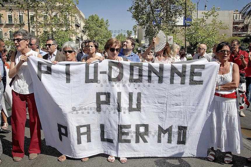 Palermo: demonstrastion against violence towards women..Palermo: manifestazione contro la violenza sulle donne