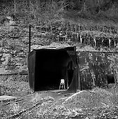 Barnabus, West Virginia.USA .January 17, 2005..Entrance to the shaft of an abandon coal mine.