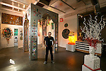 The studio of artist Edouard Duval Carrie in Little Haiti on Tuesday, October 14, 2014 with the Haiti door to be presented at the Grand Palais in Paris in November 2014.