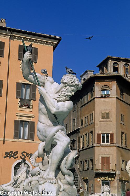 Italia,Roma,Piazza Navona,Fontaine de Neptune