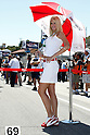 July 25, 2010 - Laguna Seca, USA - A grid girl poses in the paddock prior the U.S. Grand Prix held on July 25, 2010. (Photo Andrew Northcott/Nippon News)