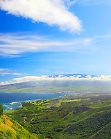 View from the Waihe'e ridge trail, Maui, Hawaii.