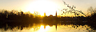 Mar. 29, 2013; Sunrise over St. Mary's Lake..Photo by Matt Cashore/University of Notre Dame