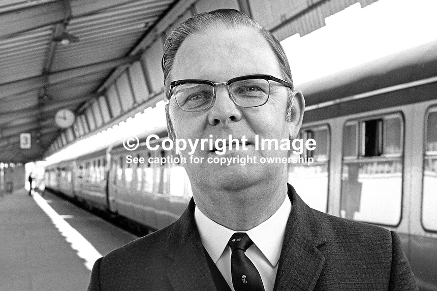 Hugh Waring, boss, N Ireland Railways, UK, August 1970, 197908000297<br />
