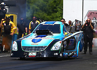 Jun 12, 2016; Englishtown, NJ, USA; NHRA funny car driver Jeff Diehl during the Summernationals at Old Bridge Township Raceway Park. Mandatory Credit: Mark J. Rebilas-USA TODAY Sports