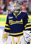 Nick Drew (Merrimack - 29) - The visiting Merrimack College Warriors tied the Boston University Terriers 1-1 on Friday, November 12, 2010, at Agganis Arena in Boston, Massachusetts.