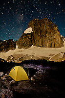 The Milky Way above Snowpatch Spire from Applebee Campground, Bugaboo Provincial Park, British Columbia, Canada