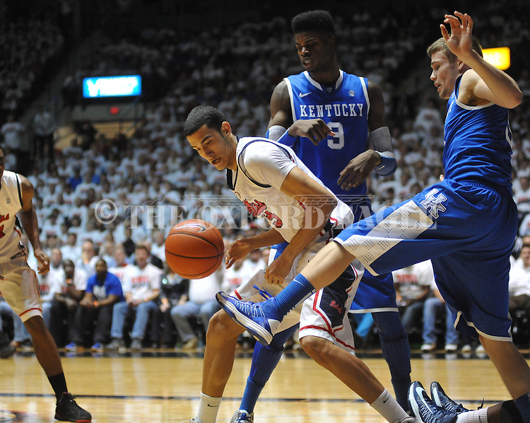 "Ole Miss vs. Kentucky at the C.M. ""Tad"" Smith Coliseum on Tuesday, January 29, 2013."