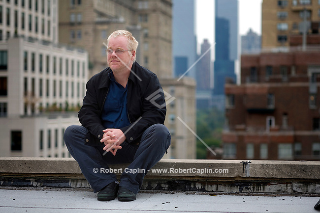 Oscar winner, Philip Seymour Hoffman on the roof of the Regency Hotel in New York, Oct. 18, 2007.