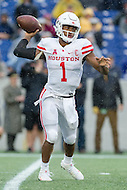 Annapolis, MD - OCT 8, 2016: Houston Cougars quarterback Greg Ward Jr. (1) throws a pass from the pocket during game between Houston and Navy at Navy-Marine Corps Memorial Stadium Annapolis, MD. The Midshipmen upset #6 Houston 46-40. (Photo by Phil Peters/Media Images International)
