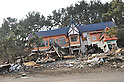 March 13, 2011: Building whose first floor was swept away, in Kanehama, Hachinohe City, 12:13PM on March 13, 2011.(Photo by Mainichi Newspaper / Aflo)