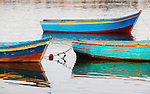 Boats tied up in the harbor of Essaouira, Morocco