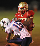 Lafayette High's Demarkous Dennis (5) runs in the first quarter vs. Lewisburg in Homecoming football action in Oxford, Miss. on Friday, September 30, 2011. Lafayette High won 42-0 for the team's 23rd straight win.