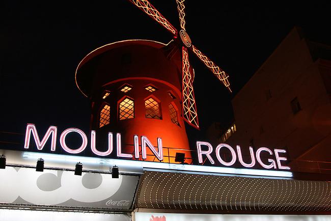 The Moulin Rouge. Paris, France. July 26, 2007.