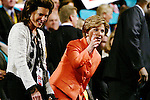 New York, NY, USA, 20040902: The Republican National Convention in Madison Square Garden. First Lady Laura Bush arrives before President George W. Bush delivers his acceptance speach after being officially nominated as the Republican Presidential Candidate for the 2004 Election
