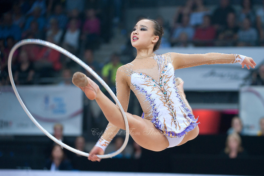 September 8, 2015 - Stuttgart, Germany - SON YEON-Jae of South Korea performs during AA qualifications at 2015 World Championships.
