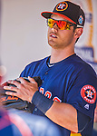 4 March 2016: Houston Astros outfielder Preston Tucker awaits the start of play in the dugout prior to a Spring Training pre-season game against the St. Louis Cardinals at Osceola County Stadium in Kissimmee, Florida. The Astros defeated the Cardinals 6-3 in Grapefruit League play. Mandatory Credit: Ed Wolfstein Photo *** RAW (NEF) Image File Available ***