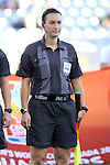 26 October 2014: Assistant referee Marie-Josee Charbonneau (CAN). The Trinidad & Tobago Women's National Team played the Mexico Women's National Team at PPL Park in Chester, Pennsylvania in the 2014 CONCACAF Women's Championship Third Place game. Mexico won the game 4-2 after extra time. With the win, Mexico qualified for next year's Women's World Cup in Canada and Trinidad & Tobago face playoff for spot against Ecuador.