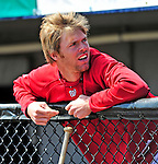 4 March 2009: Washington Nationals' pitcher Collin Balester looks out from the dugout prior to a Spring Training game against the New York Mets at Space Coast Stadium in Viera, Florida. The Nationals rallied to defeat the Mets 6-4 . Mandatory Photo Credit: Ed Wolfstein Photo