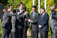 Prime Minister Mariano Rajoy with ministers Jose Manuel Soria, Jorge Fernandez Diaz, Jose Maria Margallo