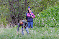 Plane spotters pull grass to get better pictures. Nato Tiger Meet is an annual gathering of squadrons using the tiger as their mascot. While originally mostly a social event it is now a full military exercise. Tiger Meet 2012 was held at the Norwegian air base Ørlandet.