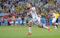 FUSSBALL WM 2014  VORRUNDE    GRUPPE G     Deutschland - Ghana                 21.06.2014 Miroslav Klose (Deutschland) bejubelt seinen Treffer zum 2:2
