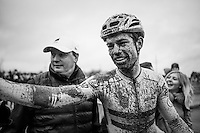 New (and old) CX World Champion Wout Van Aert (BEL/Crelan-Willems) after finishing<br /> <br /> Men's Elite Race<br /> UCI 2017 Cyclocross World Championships<br /> <br /> january 2017, Bieles/Luxemburg