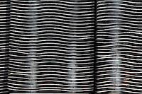 Plant History Glasshouse (formerly Australian Glasshouse), 1830s, Rohault de Fleury, Jardin des Plantes, Museum National d'Histoire Naturelle, Paris, France. Detail of new radiator whose fins form an abstract pattern.
