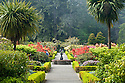 Gardens in the former Simpson Estate at Shore Acres State Park, southern Oregon coast.