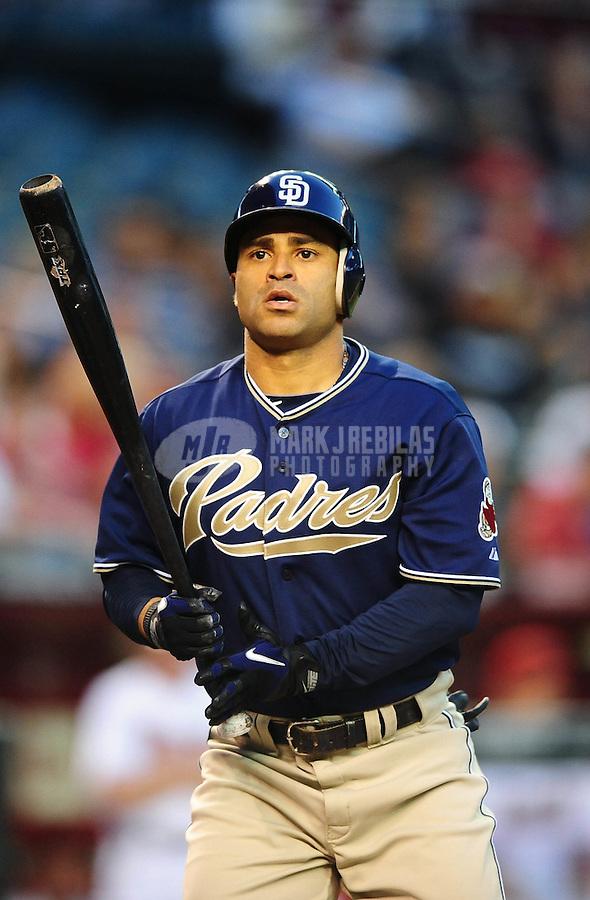 Apr. 6, 2010; Phoenix, AZ, USA; San Diego Padres third baseman Jerry Hairston Jr against the Arizona Diamondbacks at Chase Field. Mandatory Credit: Mark J. Rebilas-