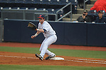 Ole Miss' Preston Overbey (1) plays first base vs. Arkansas-Pine Bluff at Oxford-University Stadium in Oxford, Miss. on Wednesday, February 27, 2013.