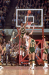 19 MAR 1970:  Jacksonville's Artis Gilmore (53), Greg Nelson (55) and St. Bonaventure guard Paul Hoffman (20) during the NCAA Men's National Basketball Final Four semifinal game held in College Park, MD, at the Cole Fieldhouse. Jacksonville defeated St. Bonaventure 91-83 to meet UCLA in the championship game. Photo by Rich Clarkson/NCAA Photos.SI CD 1646-92