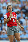 24 August 2014: Ohio State's Michela Paradiso. The University of North Carolina Tar Heels hosted the Ohio State University Buckeyes at Fetzer Field in Chapel Hill, NC in a 2014 NCAA Division I Women's Soccer match. UNC won the game 1-0.