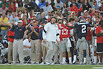 Ole Miss head coach Houston Nutt vs. Alabama at Vaught-Hemingway Stadium in Oxford, Miss. on Saturday, October 14, 2011. Alabama won 52-7.
