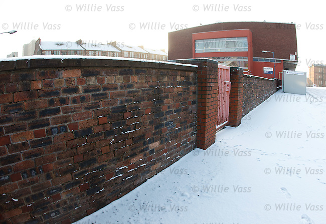 Parts of the old Ibrox boundary wall can still be seen at the stadium leading up to what was the Edmiston Club and ticket centre, now a training base for Response Handling