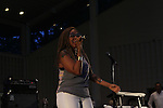 Chrisette Michele Performing at SummerStage Concert at Marcus Garvey Park Featuring Bilal and Vivian Green, Harlem NY