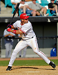 11 March 2006: Ryan Zimmerman, third baseman for the Washington Nationals, at bat during a Spring Training game against the Los Angeles Dodgers. The Nationals defeated the Dodgers 2-1 in 10 innings at Space Coast Stadium, in Viera, Florida...Mandatory Photo Credit: Ed Wolfstein.
