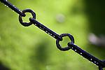 Chain with rain drops, Library Square, Trinity College, Dublin, Ireland