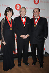 Nora Ephron, Edward Albee and Salman Rushdie..arriving at The New York Public Library 2008 Library Lions Benefit Gala on November 3, 2008 at The New York Public Library at 42nd Street and 5th Avenue.....Robin Platzer, Twin Images
