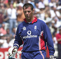 .29/06/2002.Sport - Cricket - .NatWest triangler Series England - Sri Lanka - India.England vs india 50 overs.  Lord's ground.England batting - Marcus Trescothick..