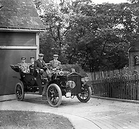 Southwestern Ohio:  Members of the Brady family posing for a photograph in Brady Stewart's new Buick Model F - 1906