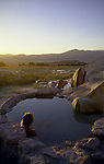 Travertine Hot Springs - Travertine Hot Spring lies on California State Park land just south of the town of Bridgeport along Route 395 is one of the easiest hot springs to get to and features a stunning view of the Sierras while you bathe. All types of people visit Travertine, including the nearby park rangers, campers, families, couples, and single travelers. Limited camping space is available on the short dirt road leading to the hot springs,