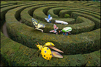 BNPS.co.uk (01202 558833)<br /> Pic: PhilYeomans/BNPS<br /> <br /> Oversized insects are descending on Longleat house this Easter.<br /> <br /> The giant animatronic bugs are part of a new 'Marvellous monsters' feature aiming to highlight the amazing world of insects and the vital role they play in keeping the planet alive.<br /> <br /> Steve Mytton from Longleat said  'All the insects are based on real life bugs, just scaled up to the size of cars and vans.'
