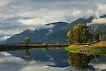 Fall reflections on the Kootenai River in north Idaho