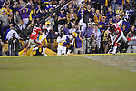 LSU running back Spencer Ware (11) makes a catch on a two point conversion to tie the game at 28 against Ole Miss at Tiger Stadium in Baton Rouge, La. on Saturday, November 17, 2012. LSU won 41-35.....